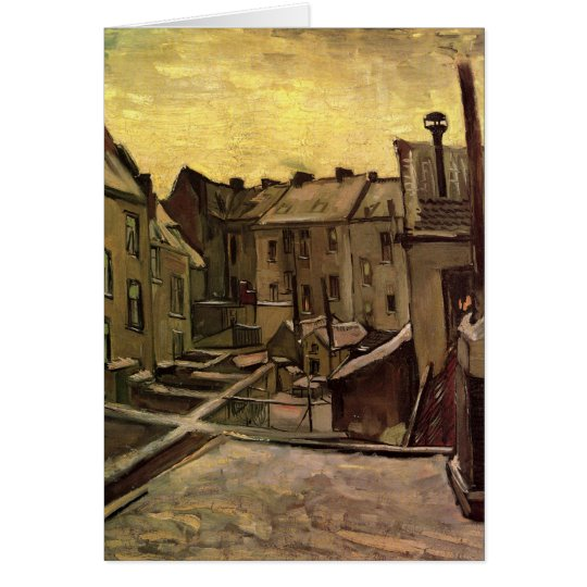 Backyards of Old Houses by Vincent van Gogh