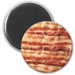 bacon, 6 cm round magnet