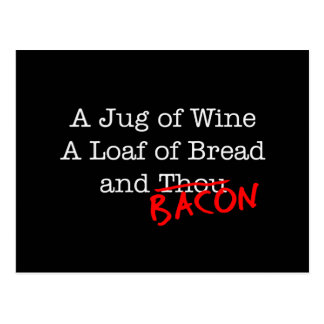 Bacon A Jug of Wine Postcard