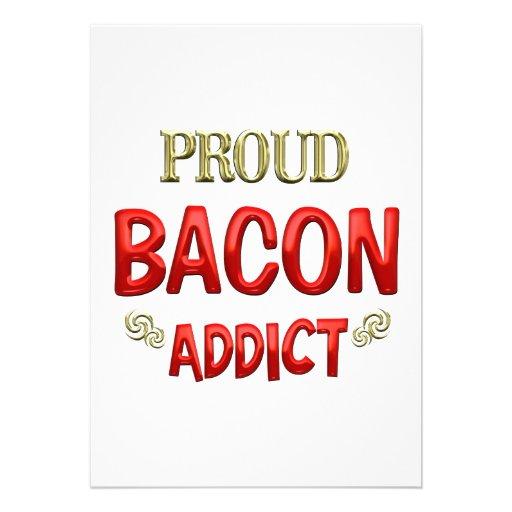Bacon Addict Custom Announcement