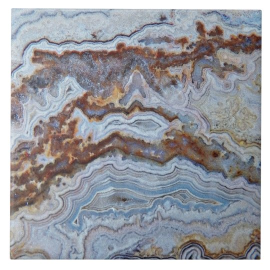 Bacon Agate Pattern Large Square Tile