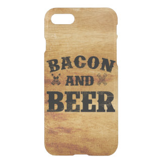 Bacon and beer rustic wood iPhone 7 case