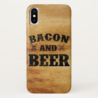 Bacon and beer rustic wood iPhone x case
