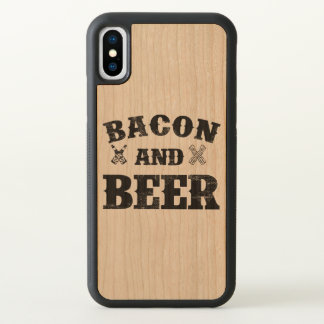 Bacon and beer wood iPhone x case