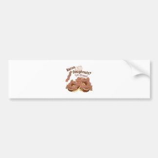 Bacon And Doughnuts Bumper Sticker