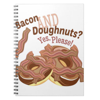 Bacon And Doughnuts Spiral Notebook