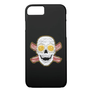 Bacon and Egg Skull iPhone 7 Case