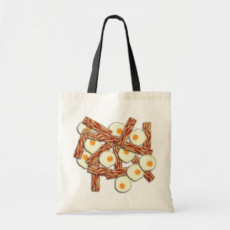 Bacon and Eggs Pattern Tote Bag