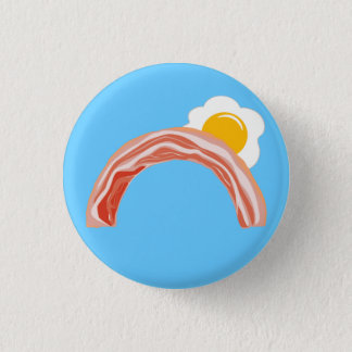 Bacon and Eggs Rainbow 3 Cm Round Badge