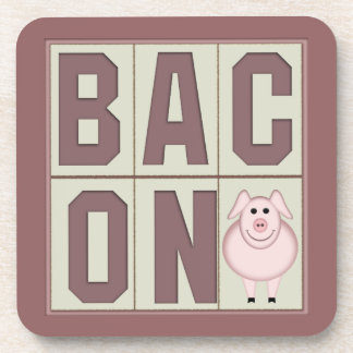 Bacon and Piggy Funny Coasters