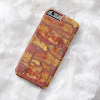 Bacon Background Pattern, Funny Fried Food iPhone 6 Case