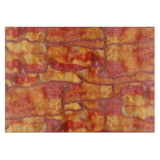 Bacon Background Pattern, Funny Fried Food Cutting Board