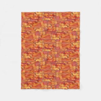 Bacon Background Pattern, Funny Fried Food Fleece Blanket