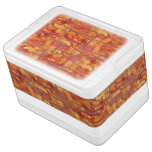 Bacon Background Pattern, Funny Fried Food Igloo Cooler