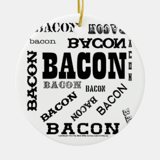 Bacon Bacon Bacon Double-Sided Ceramic Round Christmas Ornament