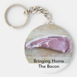 Bacon Basic Round Button Key Ring