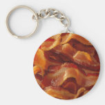 Bacon Basic Round Button Key Ring
