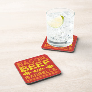 Bacon, Beef, Barbells - Gym Workout Motivational Coaster
