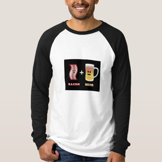 Bacon + Beer Are Surprised! (black bkgd) T-Shirt