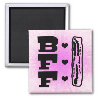 Bacon Best Friends Forever BBFF Square Magnet