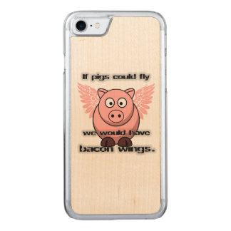 bacon carved iPhone 8/7 case