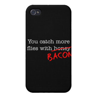 Bacon Catch More Flies Cover For iPhone 4