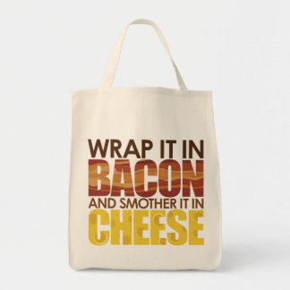 Bacon & Cheese, PLEASE! Grocery Tote Bag