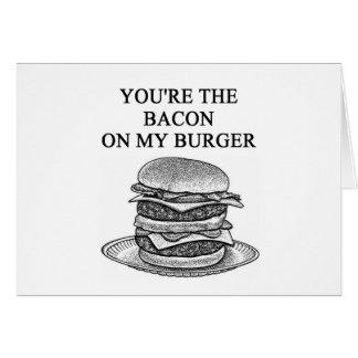 bacon cheesenurger lover greeting card