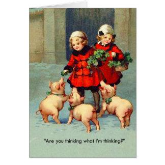 Bacon Christmas Card