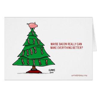 Bacon Christmas Greeting Card