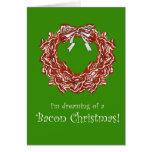Bacon Christmas Holiday Card