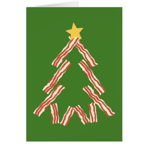 Bacon Christmas Tree Card