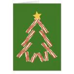 Bacon Christmas Tree Card
