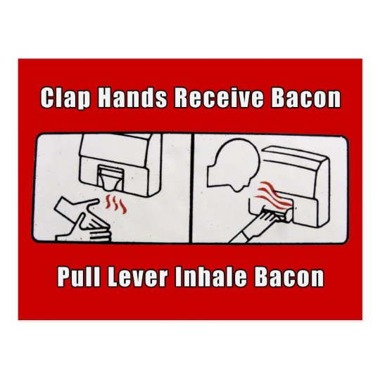 Bacon Dispenser Postcard