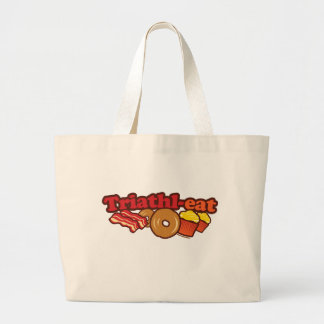BACON DONUTS CUPCAKES LARGE TOTE BAG