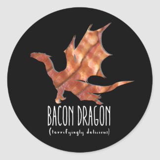 Bacon Dragon Classic Round Sticker
