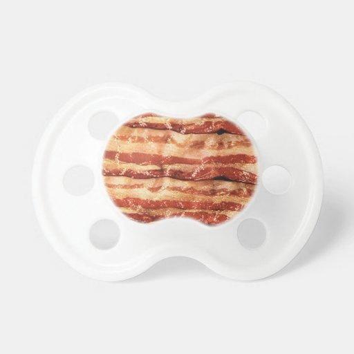 bacon, pacifier