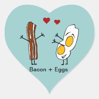 Bacon + Eggs Heart Sticker