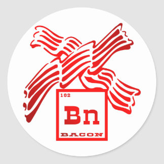 Bacon Element Periodic Table Stickers