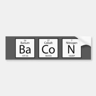 Bacon Elements Bumper Sticker