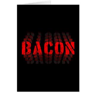 Bacon Fade Greeting Card