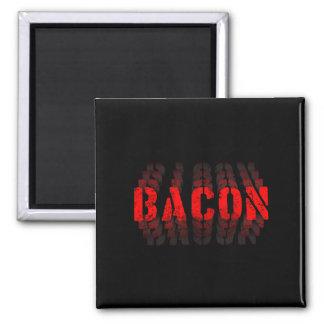 Bacon Fade Square Magnet