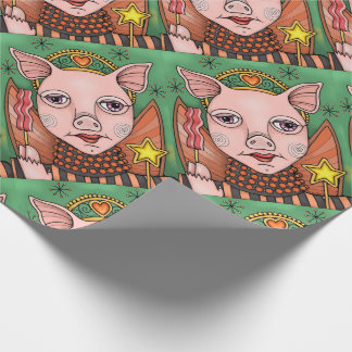 Bacon Fairy Princess Color Design Wrapping Paper