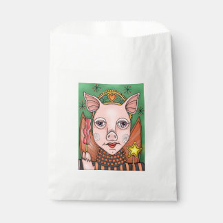 Bacon Fairy Princess Line Art Design Favour Bags