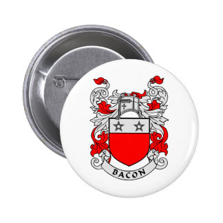 Bacon Family Crest 6 Cm Round Badge