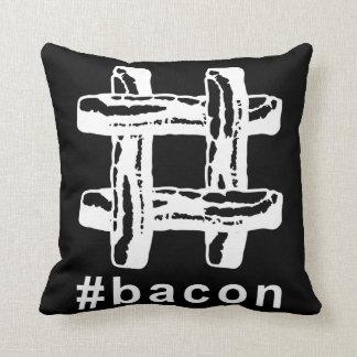 Bacon Fest Hashtag (Black Background) Cushion
