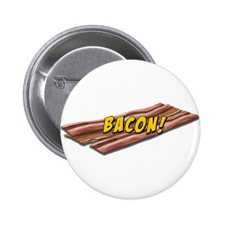Bacon flavour 6 cm round badge