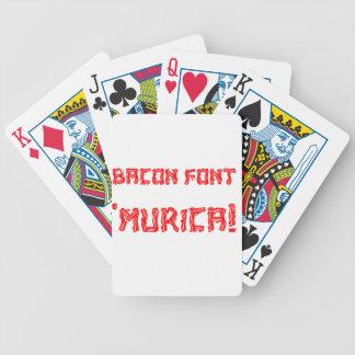 Bacon Font Murica Card Decks