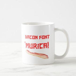 Bacon Font 'Murica! Mugs
