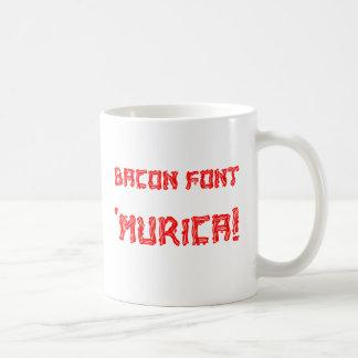 Bacon Font 'Murica! Coffee Mug